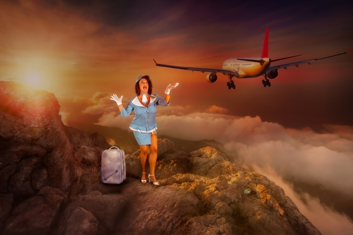 Pinup Stewardess