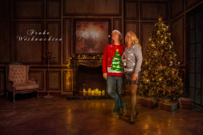 Weihnachtskartenshooting