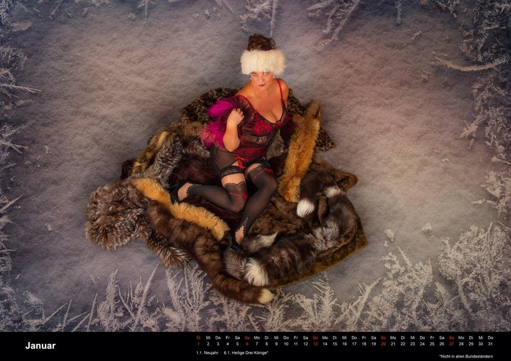 Boudoir Kalender Januar