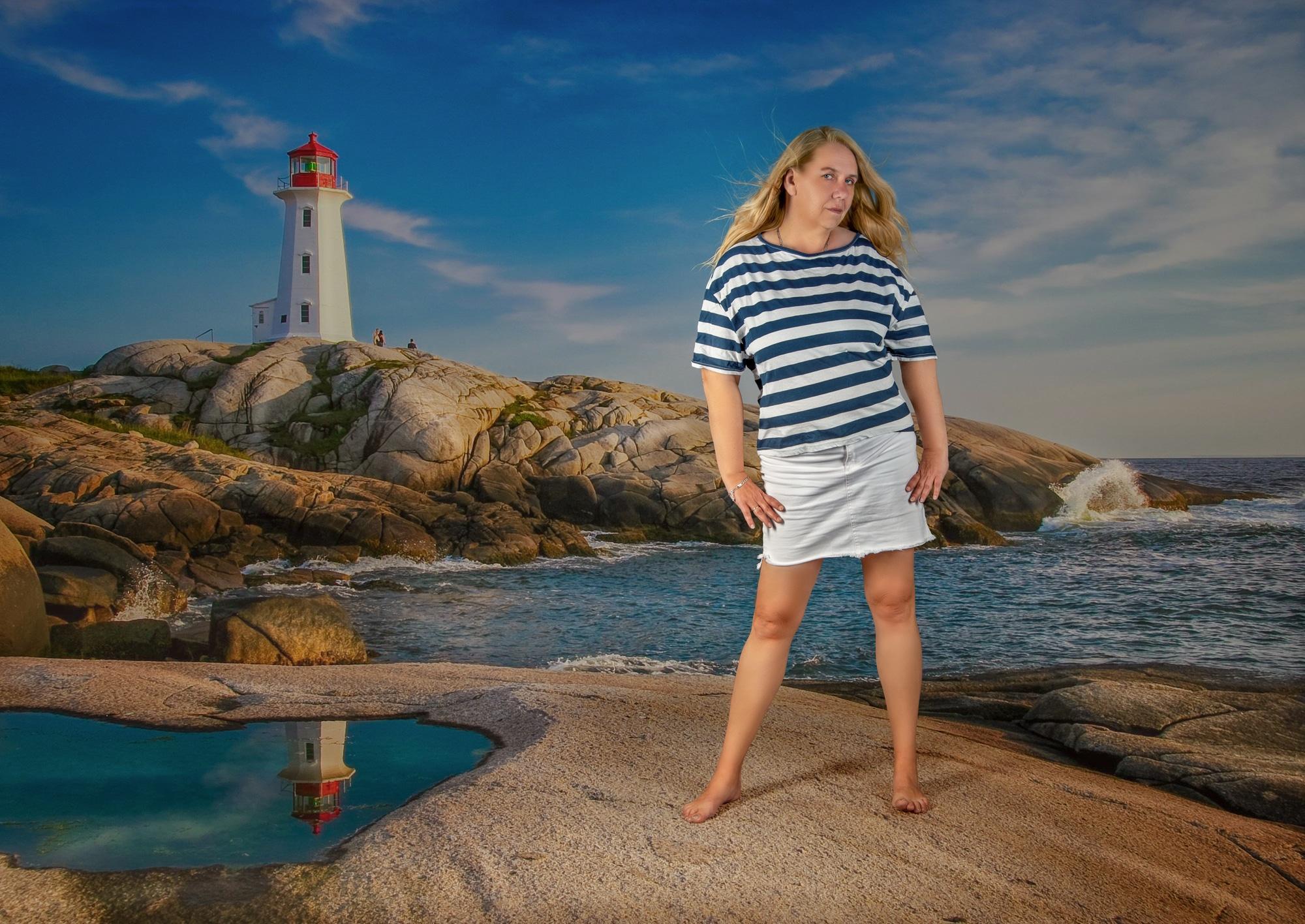 Leuchtturm Fotoshooting Fashion