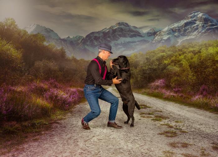 Mann Hund Fotografie