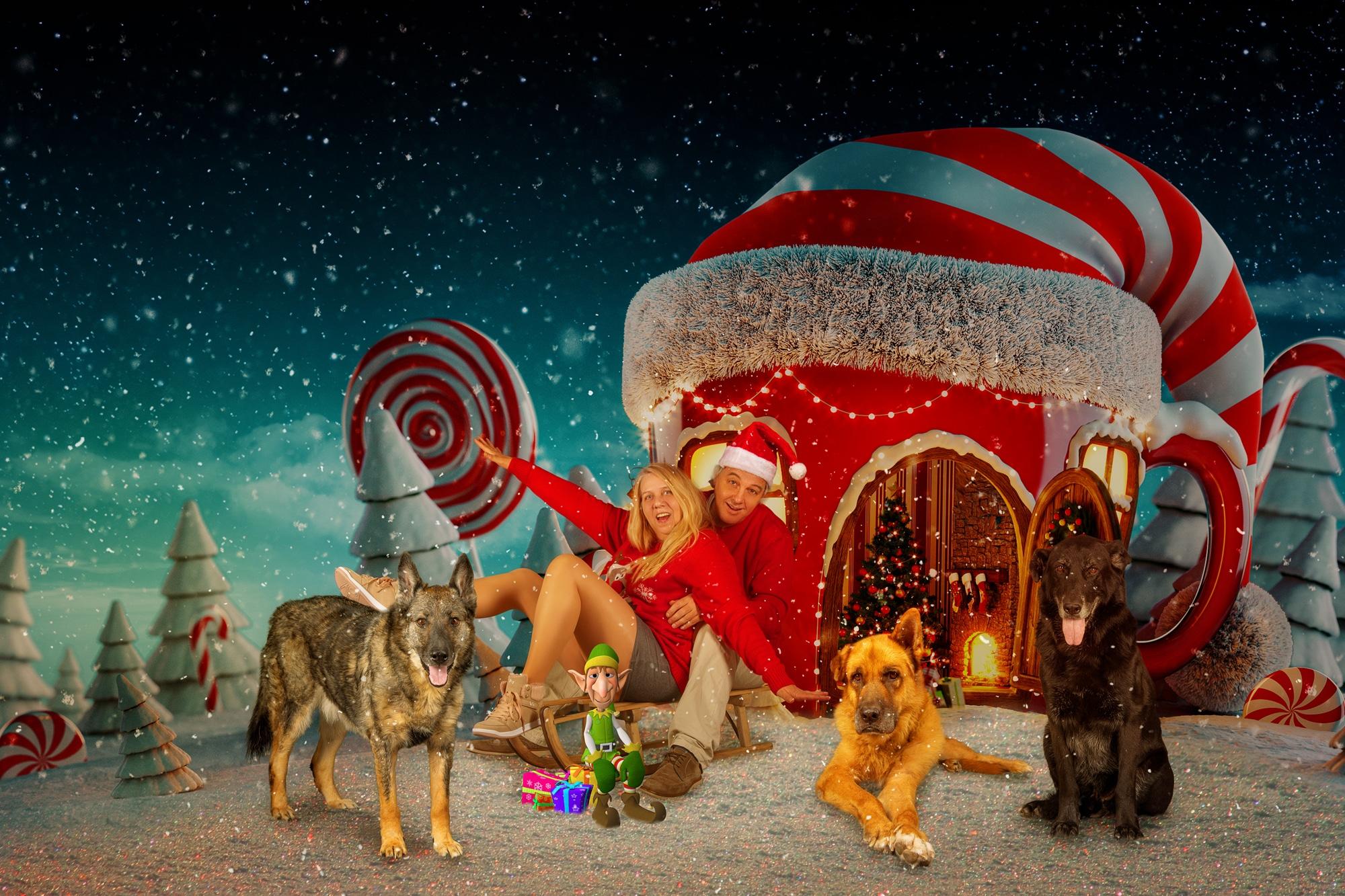 Familien Weihnachtskarten Fotoshooting
